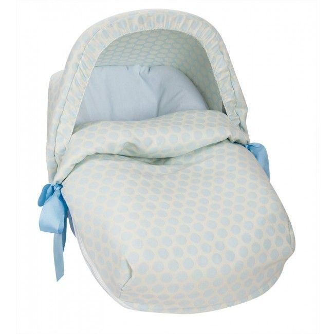Saco de porta bebe topo jacquard celeste babyline capota - Sacos para portabebes ...