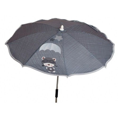 sombrilla paracaidista gris