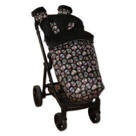 saco de silla con manoplas lovely skull negro