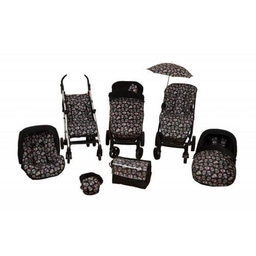 saco de silla con manoplas lovely skull negro 3