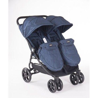 Silla de paseo gemelar Twins Happy 2 azul
