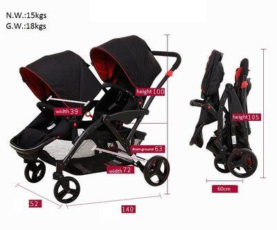 Carrito gemelar Two Babies 8